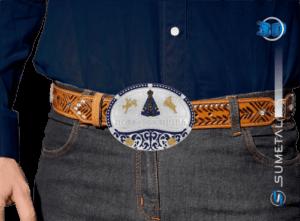 11231F PD Borda Azul - Fivela Country Nossa Senhora