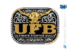 11243FJ PD - Fivela Country UFB Ultimate Fighter Bulls
