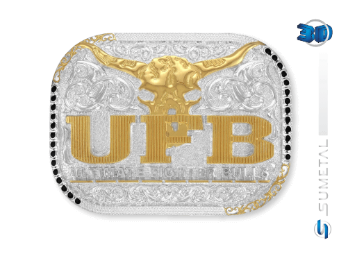 11243F PD - Fivela Country UFB Ultimate Fighter Bulls