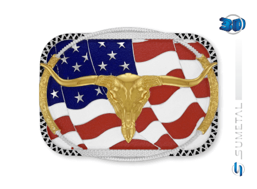 11268F PD - Fivela Country Longhorn