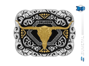 11405FJ PD - Fivela Country Longhorn