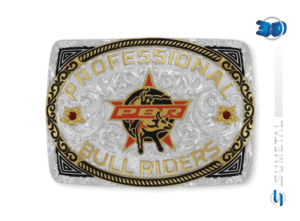 11426F PD Borda Preta - Fivela Country PBR PROFESSIONAL BULL RIDERS