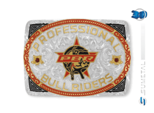 11426F PD Borda Vermelha - Fivela Country PBR PROFESSIONAL BULL RIDERS