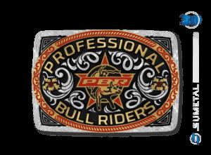 11426FJ PD Borda Vermelha - Fivela Country PBR PROFESSIONAL BULL RIDERS