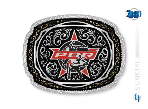 11428FJ - Fivela Country PBR PROFESSIONAL BULL RIDERS