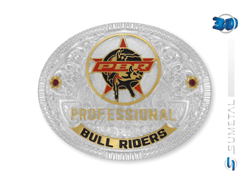 11433F PD - Fivela Country PBR PROFESSIONAL BULL RIDERS