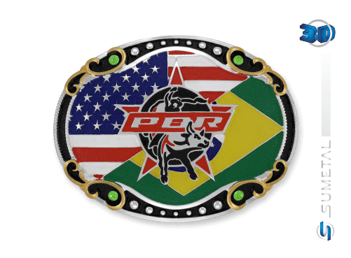 11456FJ PD - Fivela Country PBR PROFESSIONAL BULL RIDERS