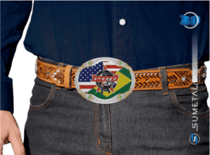 11456F PD - Fivela Country PBR PROFESSIONAL BULL RIDERS