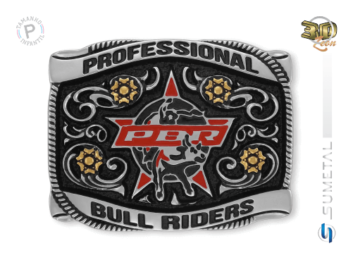 11468FJ ND - Fivela Country PBR PROFESSIONAL BULL RIDERS