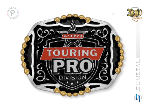 11469FJ ND - Fivela Country PBR PROFESSIONAL BULL RIDERS