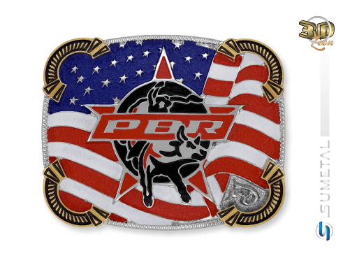 11470F ND - Fivela Country PBR PROFESSIONAL BULL RIDERS