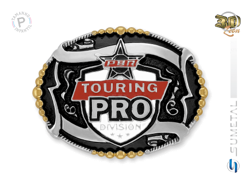 11471FJ ND - Fivela Country PBR PROFESSIONAL BULL RIDERS