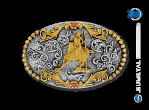 9836FE PD - Fivela Country Baliza Feminina