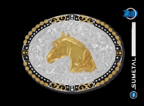 11406F PD - Fivela Country Cabeça de Cavalo