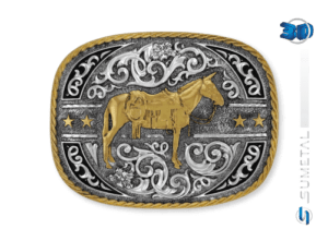 11412FE PD - Fivela Country Mula Traiada