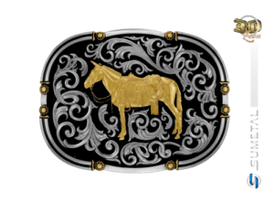 9767FJ ND - Fivela Country Mula Traiada