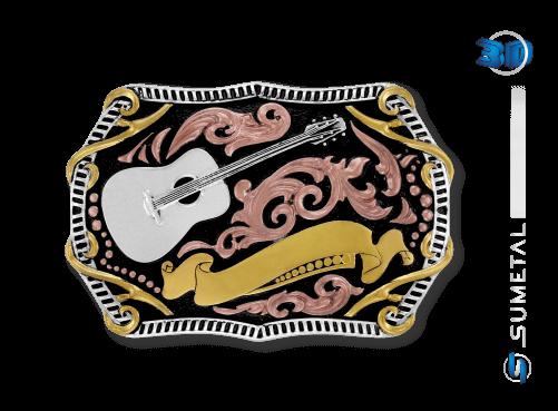 9813FJ PDC - Fivela Country Violão / Música