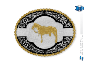 9821F PD - Fivela Country Mula Traiada