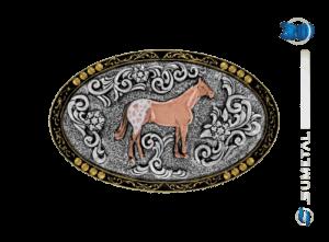 9837FE PDC - Fivela Country Cavalo Appaloosa