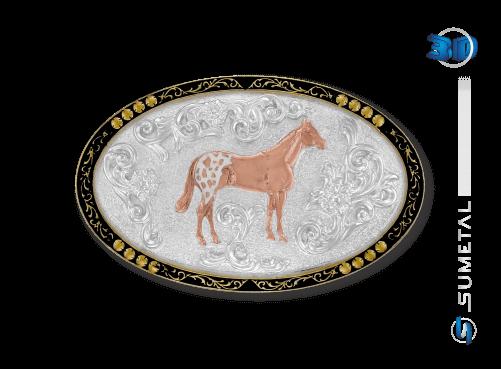 9837F PDC - Fivela Country Cavalo Appaloosa