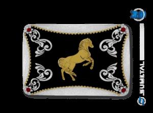 9840FJ PD - Fivela Country Cavalo Empinando