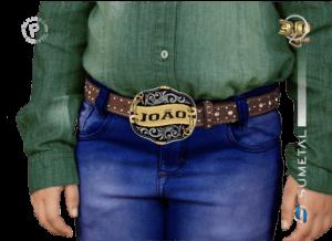 9783FJ ND - Fivela Country Gravação Especial Masculina Infantil