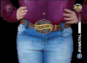 9783FJ ND - Fivela Country Gravação Especial Feminina Infantil