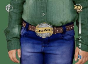 9783F ND - Fivela Country Gravação Especial Masculina Infantil