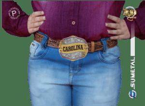 9783F ND - Fivela Country Gravação Especial Feminina Infantil
