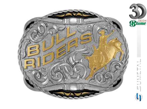 12108F ND - Fivela Country Bull Riders