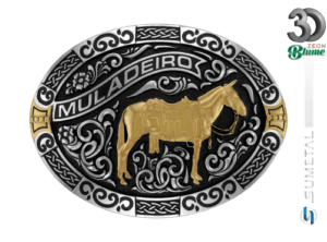 11952FJ ND - Fivela Country Mula Traiada