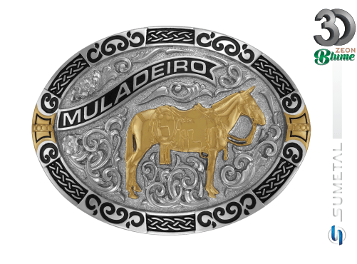 11952F ND - Fivela Country Mula Traiada