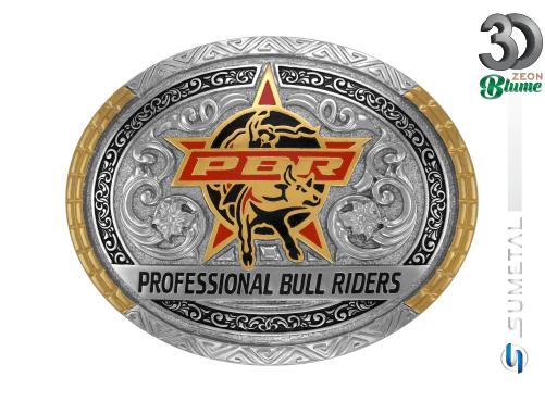 11980F ND - Fivela Country PBR PROFESSIONAL BULL RIDERS