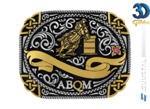 12050FJPD - Fivela Country ABQM Tambor Feminino