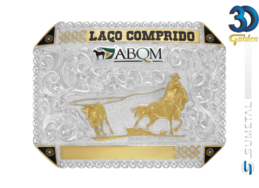 12070F PD - Fivela Country ABQM Laço Comprido