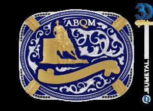 12072FJ PD Borda Azul - Fivela Country ABQM Tambor Masculino