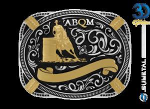 12072FJ PD Borda Preta - Fivela Country ABQM Tambor Masculino