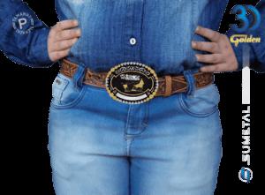 12073FJ PD - Fivela Country ABQM Laço Comprido Infantil