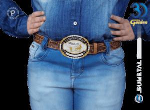 12073F PD - Fivela Country ABQM Laço Comprido Infantil