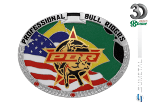 12084FJ ND - Fivela Country PBR PROFESSIONAL BULL RIDERS