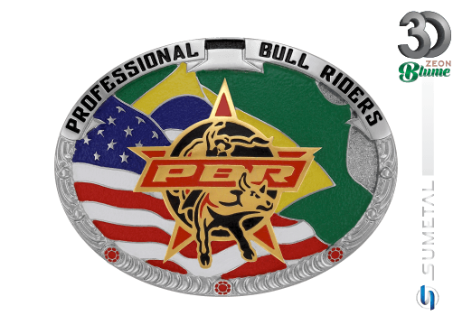 12084F ND - Fivela Country PBR PROFESSIONAL BULL RIDERS