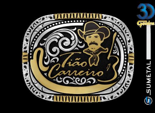 12091F PD - Fivela Country Tião Carreiro