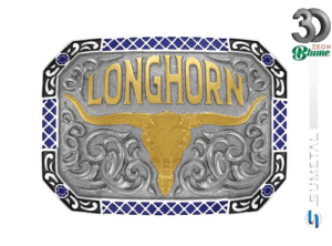 12106F ND - Fivela Country Longhorn