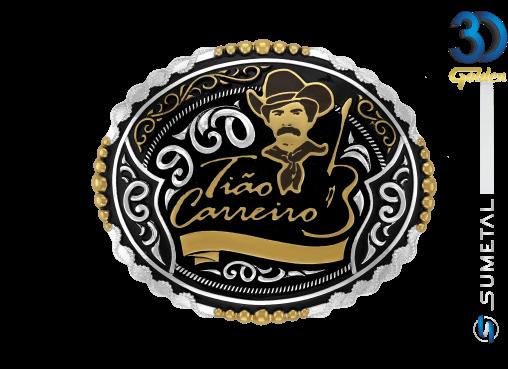 12112F PD - Fivela Country Tião Carreiro