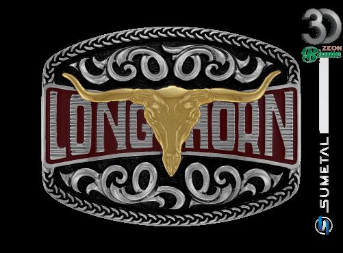 12139FJ ND - Fivela Country Longhorn