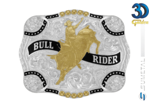 12144F PD - Fivela Country Bull Rider