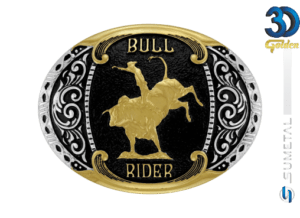 12149FJ PD - Fivela Country Bull Rider