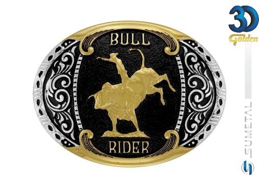 12149F PD - Fivela Country Bull Rider