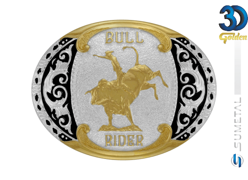 12149F PD - Fivela Country Bull Rider