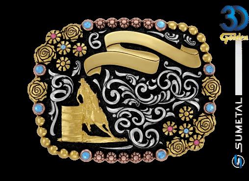 12150F PDC - Fivela Country Tambor Feminino